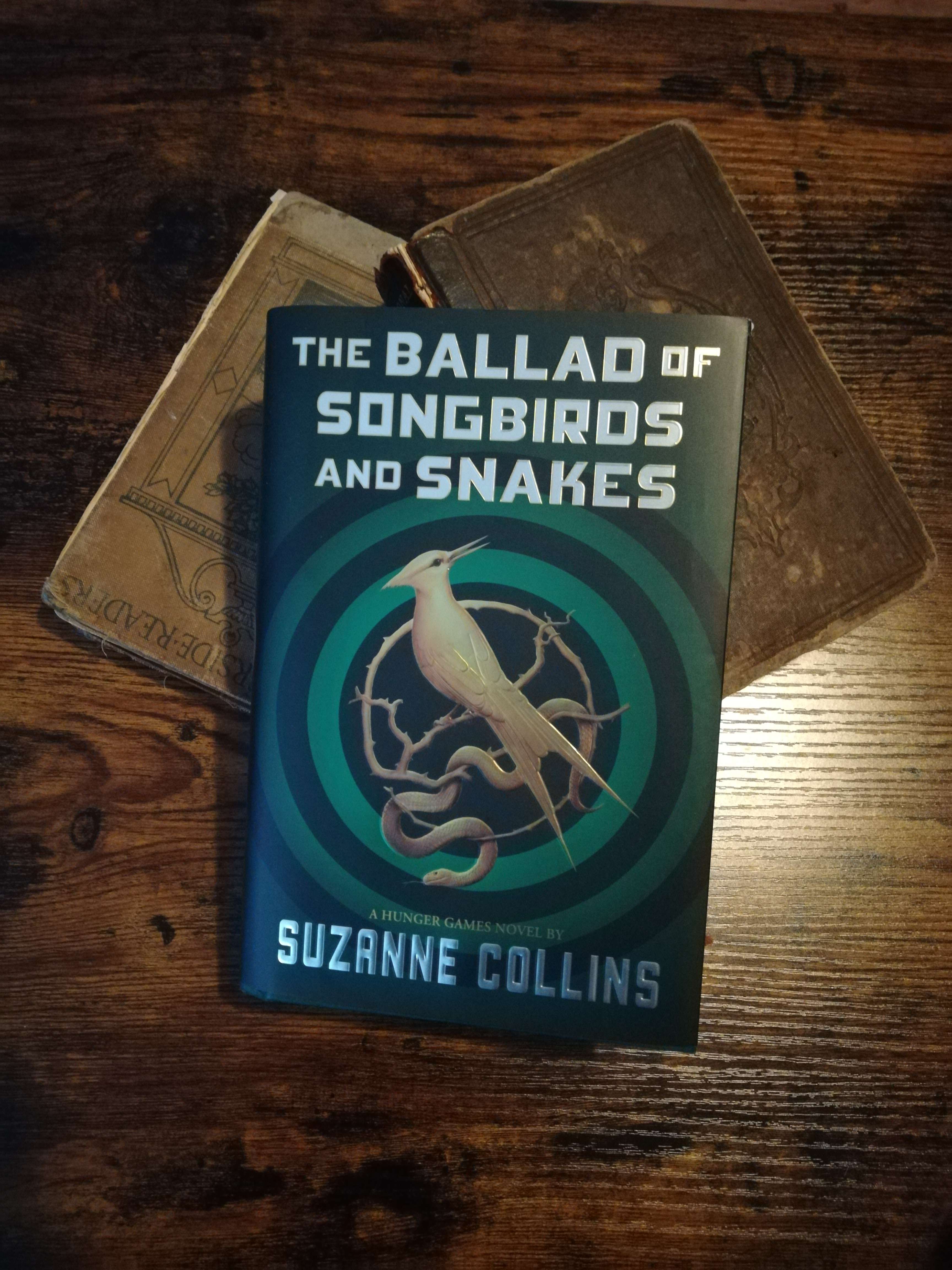 """Image of one of the library """"new Books""""  The Ballad of Songbirds and Snakes by Suzanne Collins a prequel book to the Hunger Games series"""