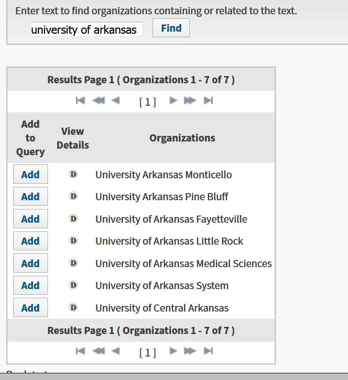 campuses listed under organization-enhanced for the university of arkansas