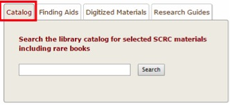 SCRC Widget with catalog tab highlighted