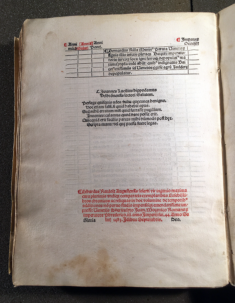 Colophon from the Chronicon