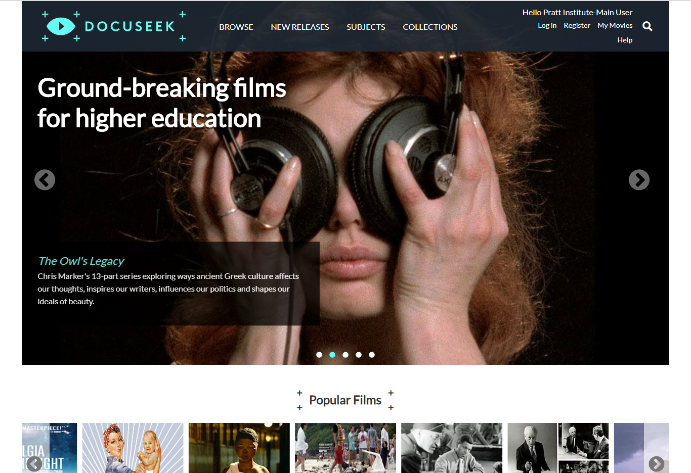 Docuseek screen capture.