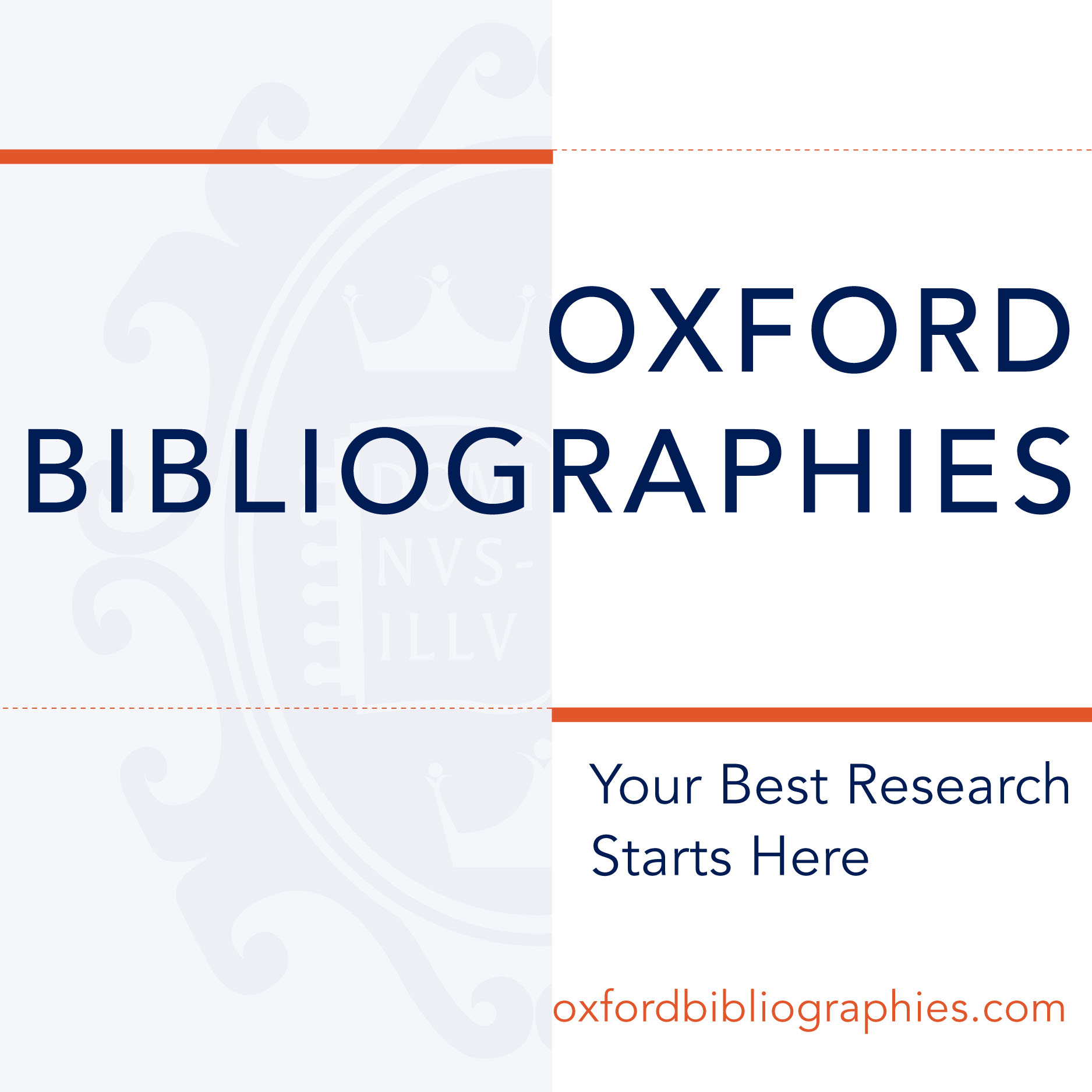 Oxford Bibliographies: Your Best Research Starts Here