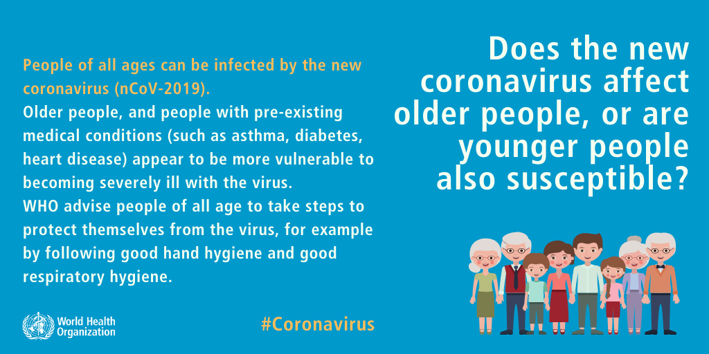 'FACT: People of all ages can be infected by the COVID-19 virus' World Health Organization COVID-19 Mythbuster about children