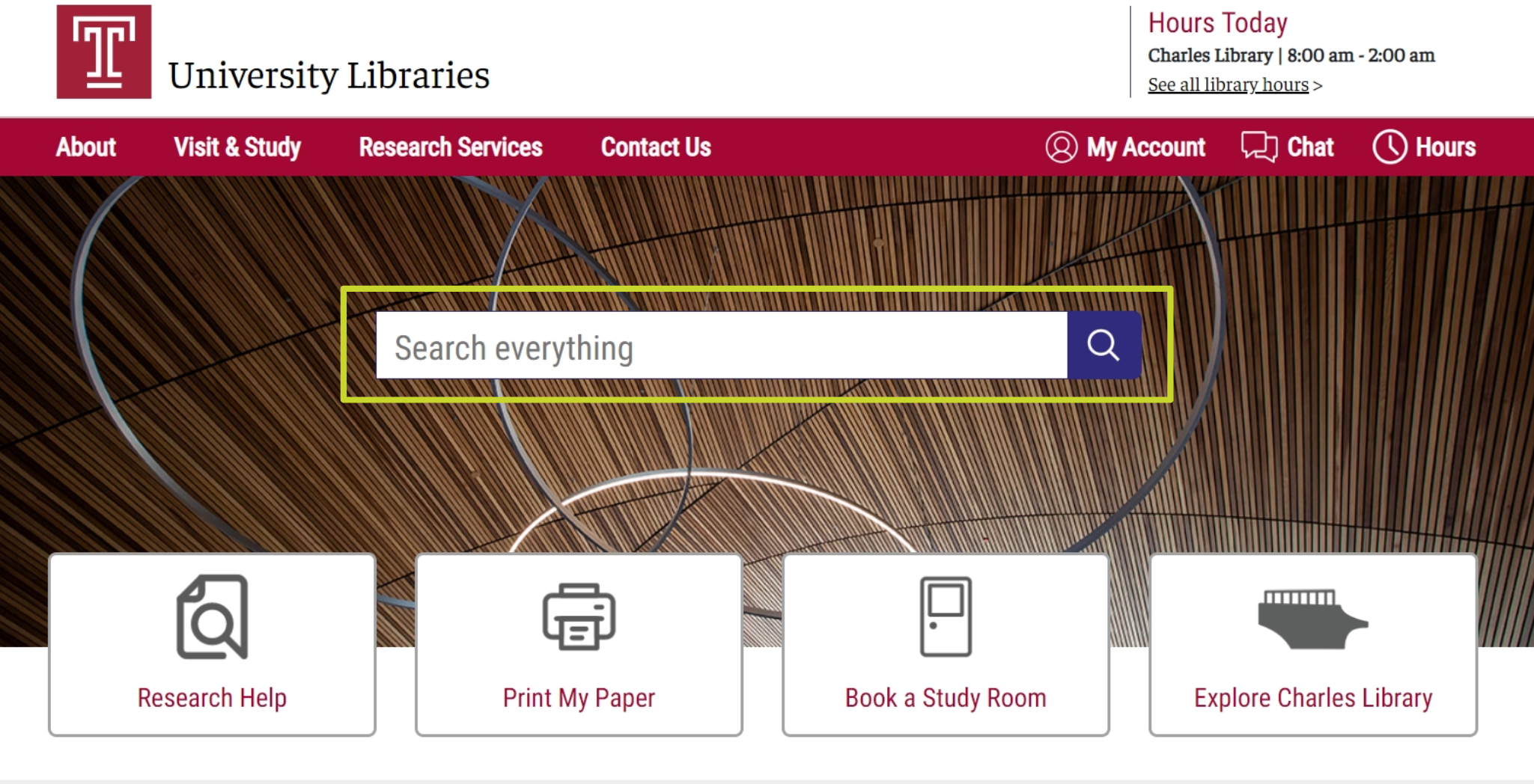 intro screen for Library Search tutorial