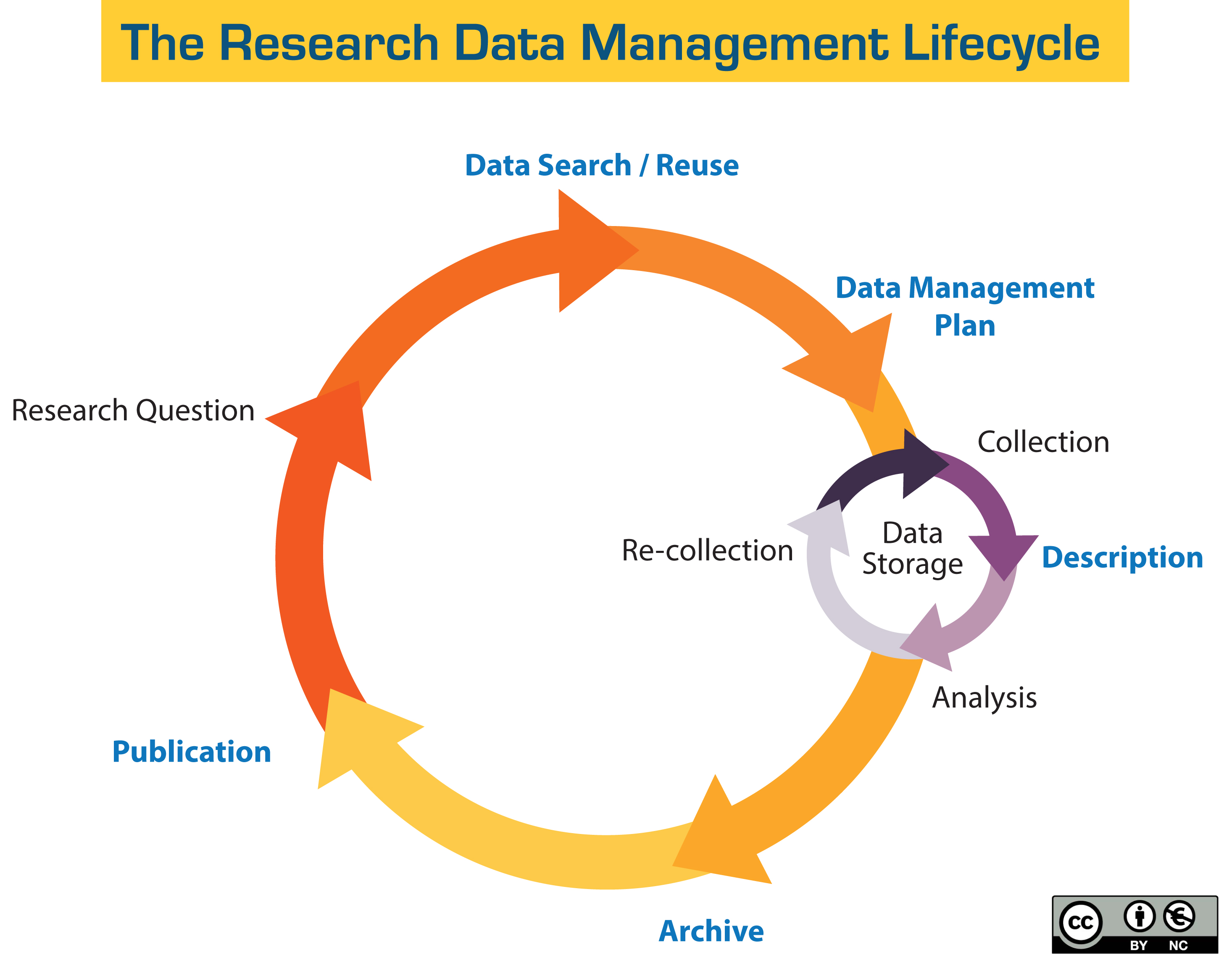 Model of the research data management lifecycle