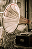 Phtograph of an old gramophone