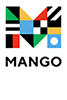 Logo of Mango Languages featuring a large multi colored M against a white background and the word MANGO in black at the bottom
