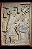 A relief from Yaxchilan Lintel of hte Mayan people