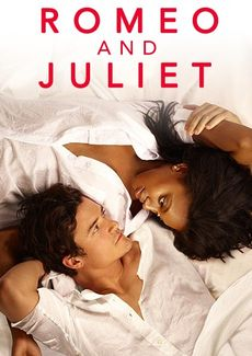 Video still of Romeo and Juliet, man and woman laying down looking at each other