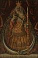 Image of Virgin of  La Candelaria. 18th century. Oil on canvans. Provided by Museo de Arte de Ponce. Cristobal Hernandez de Quintana.