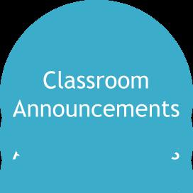 classroom announcements icon