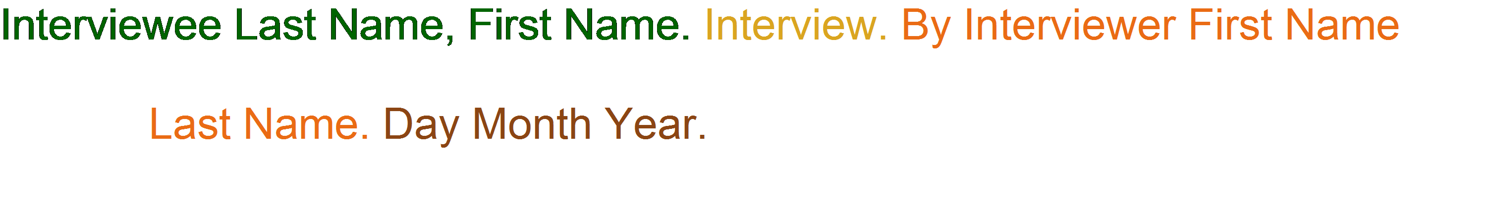 Personal Interview Citation