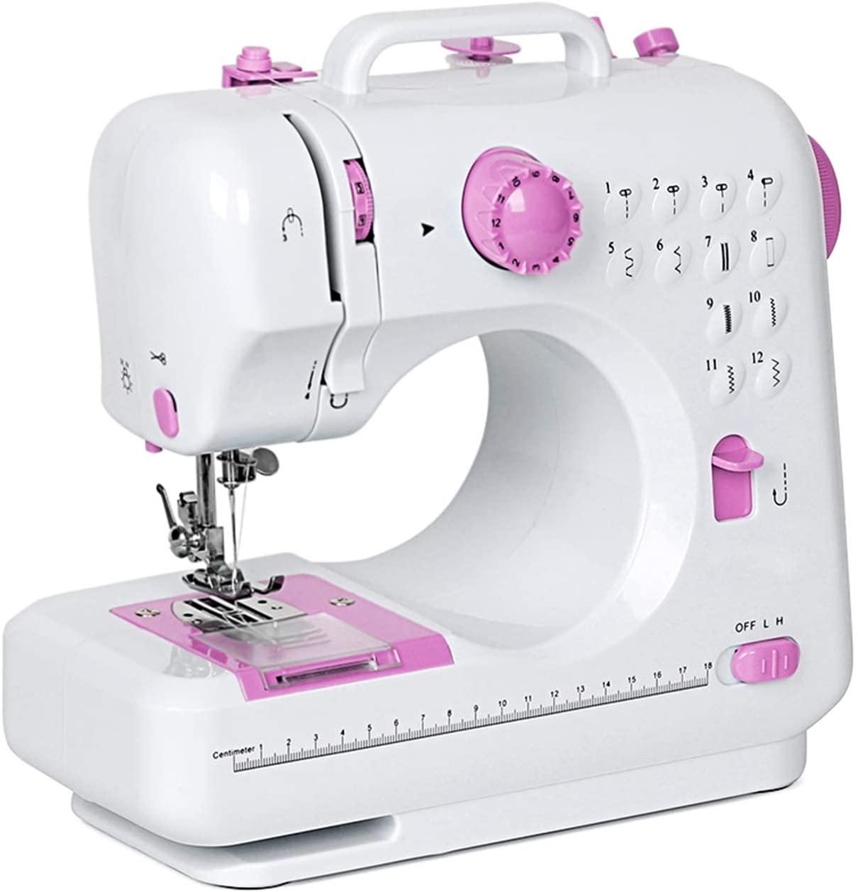 A white sewing machine