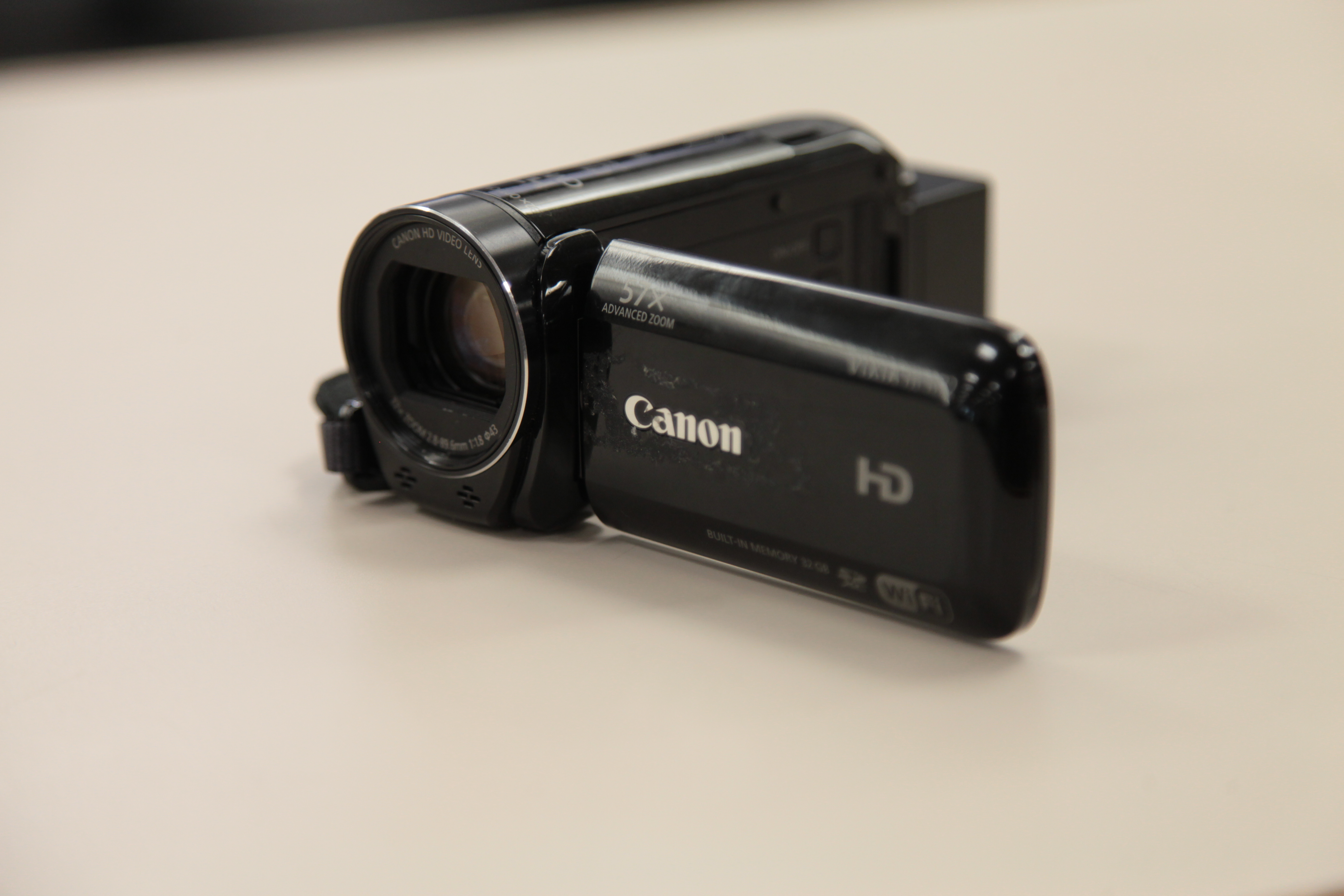 Canon Vixia video camera on a counter