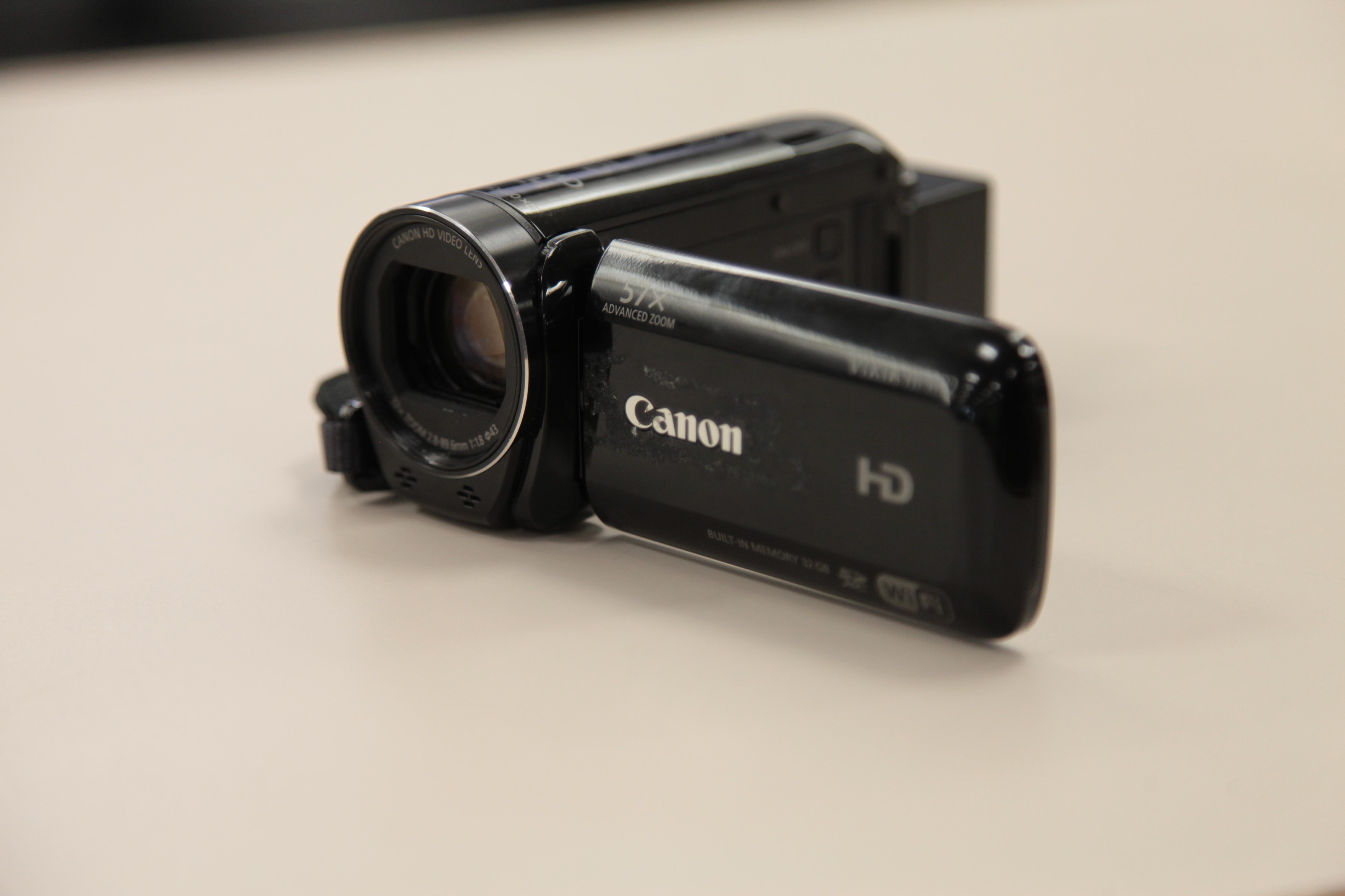 Canon Vixia video camera on a counter