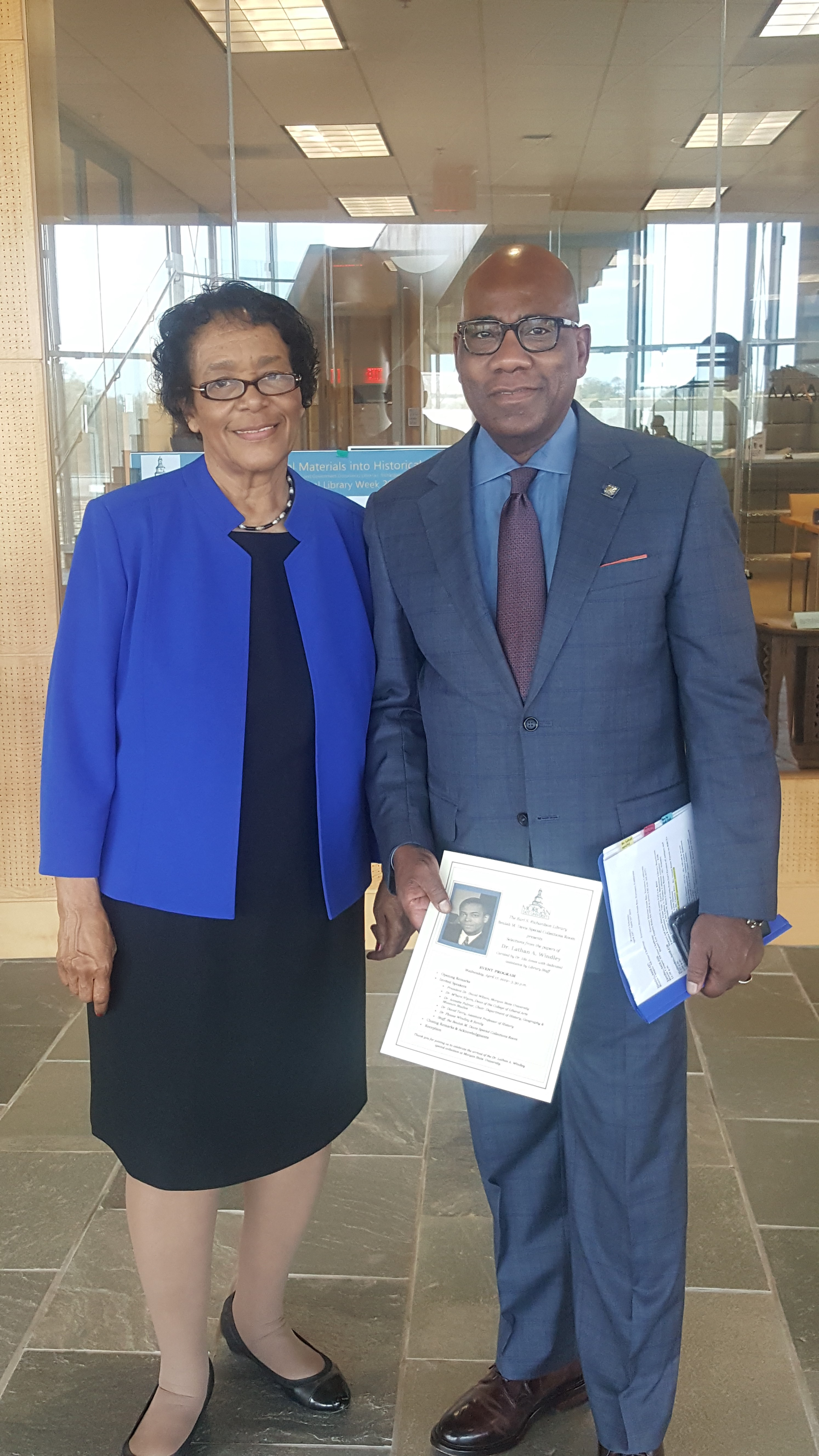 Dr. Flossie Windley and Dr. David Wilson