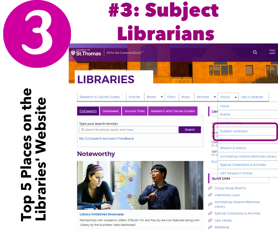 #3: Subject Librarians