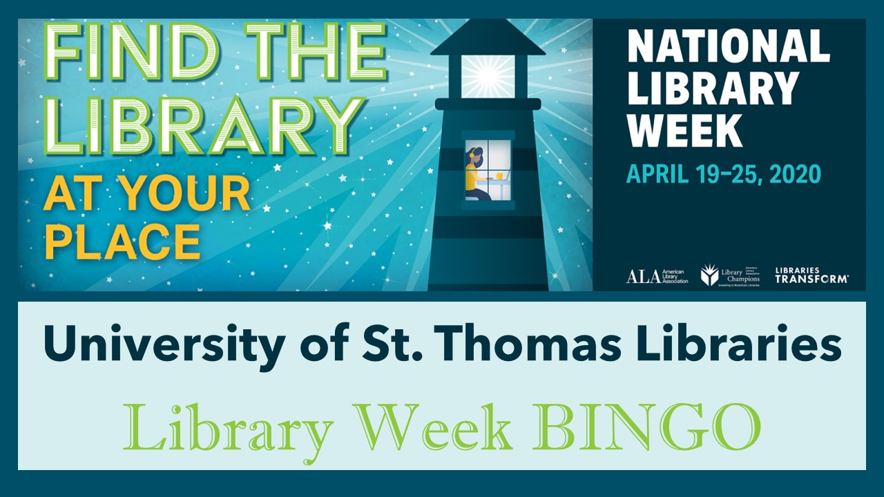 Library Week Bingo banner