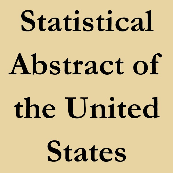 Statistical abstract of the united states (black text on gold ground)