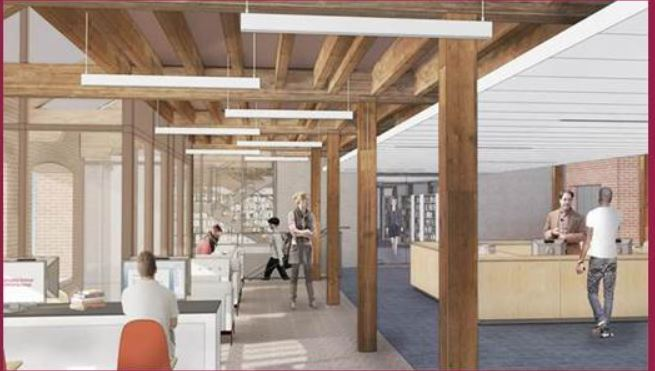 Artist Rendering of the New Library in Building 19 Reference Desk