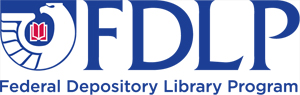 Federal Depository Library Program logo. Image links to FDLP homepage