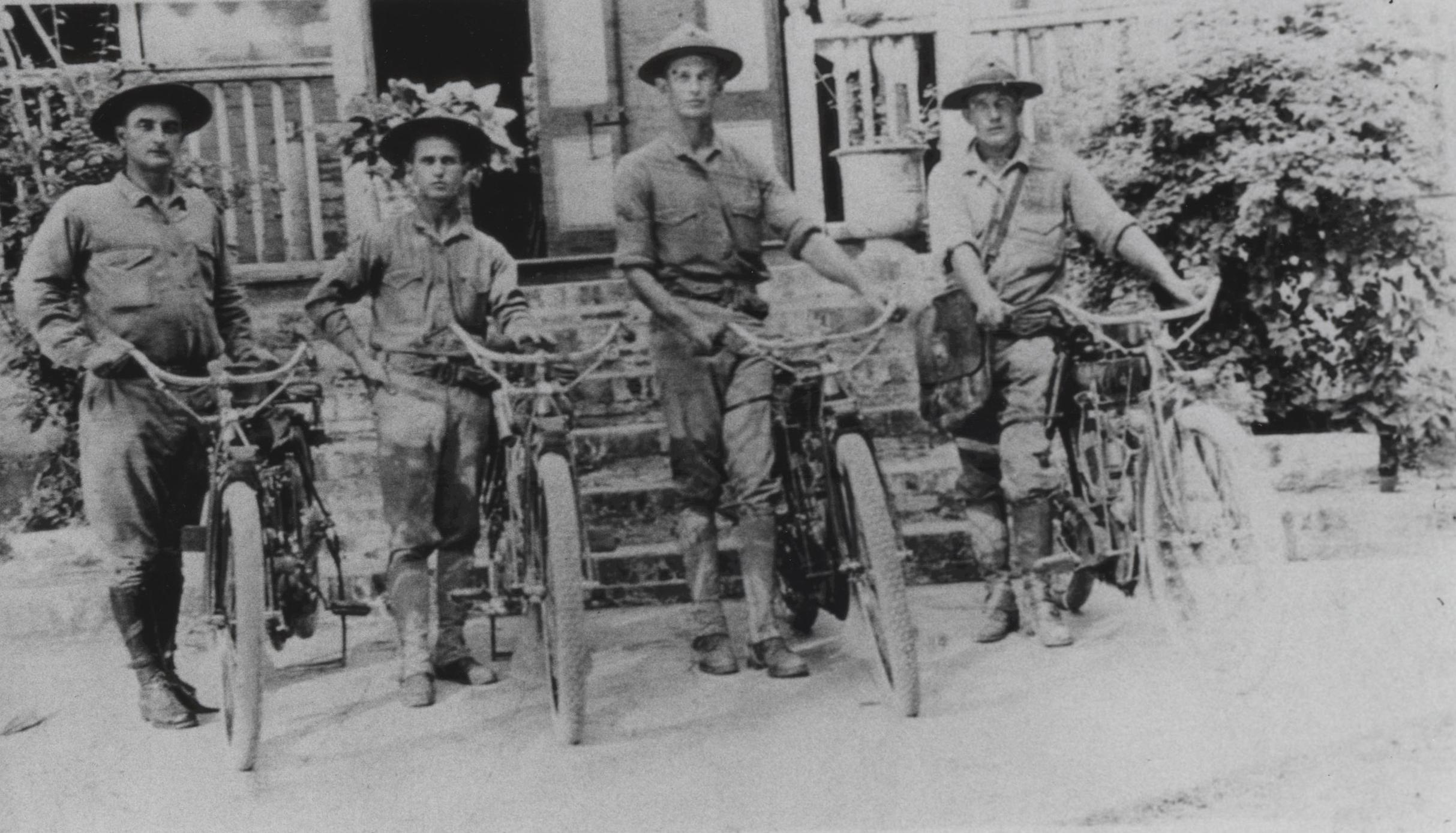 Marines with motorcycles, Haiti, circa 1915