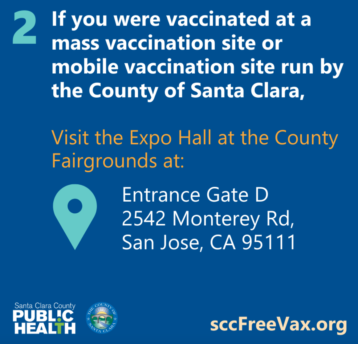 visit the vaccination site (if it is still open)