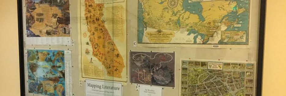 Photo of Mapping Literature Exhibit case.