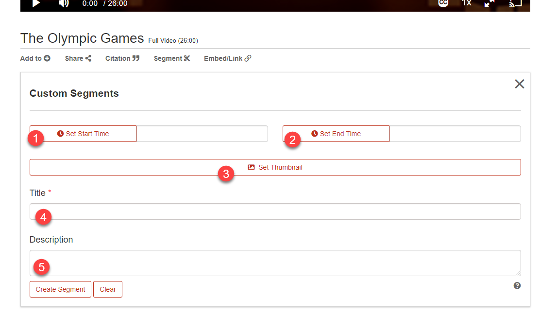 Create segments screenshot