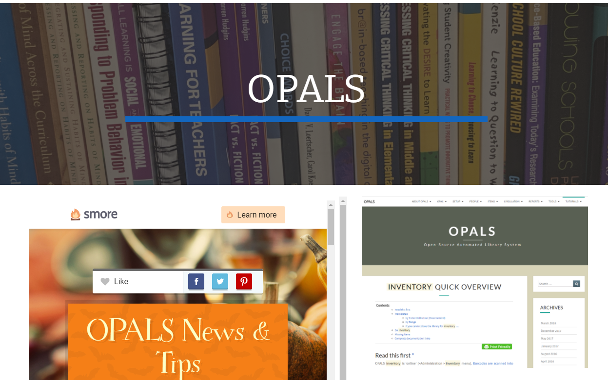 image of opals google page