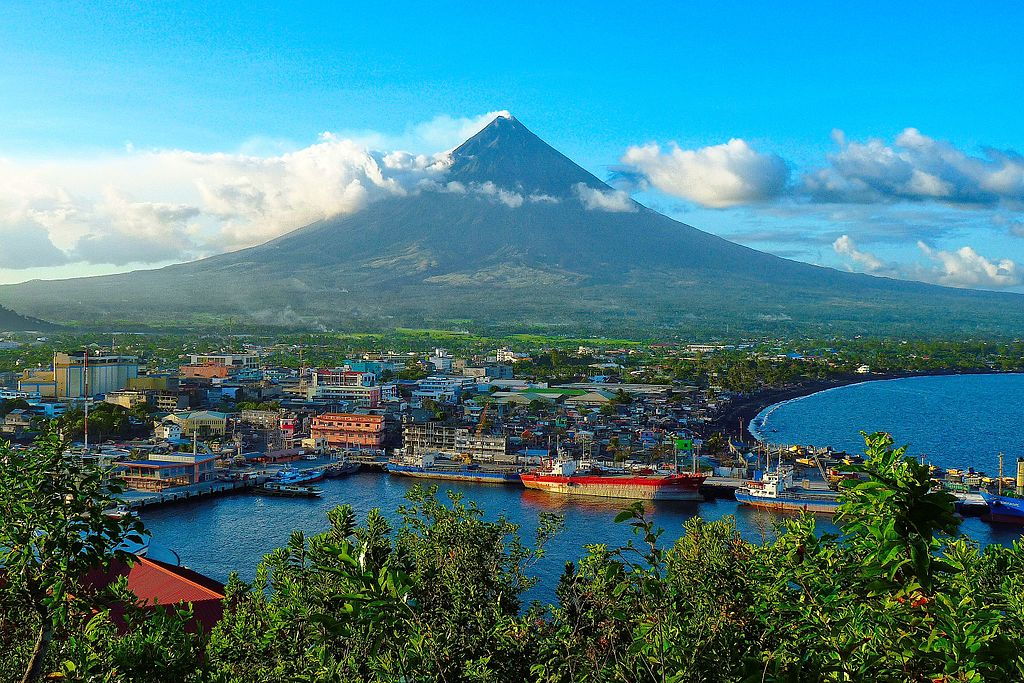 Panorama of the Mayon Volcano in the Philippines