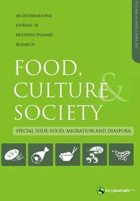 Green-colored cover of the Food, Culture, & Society, an International Journal of Multidisciplinary Research