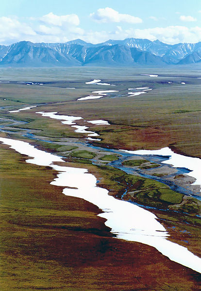Arctic National Wildlife Refuge in Alaska looking at the Brooks Mountains