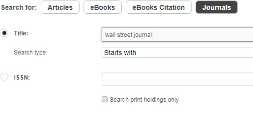 journal locator example search for wall street journal