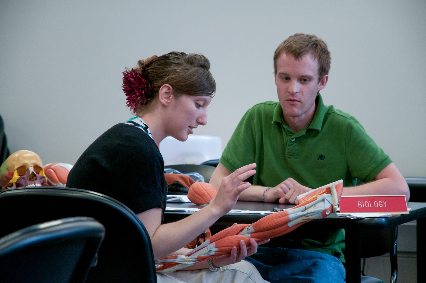 student receiving help in the tutoring center