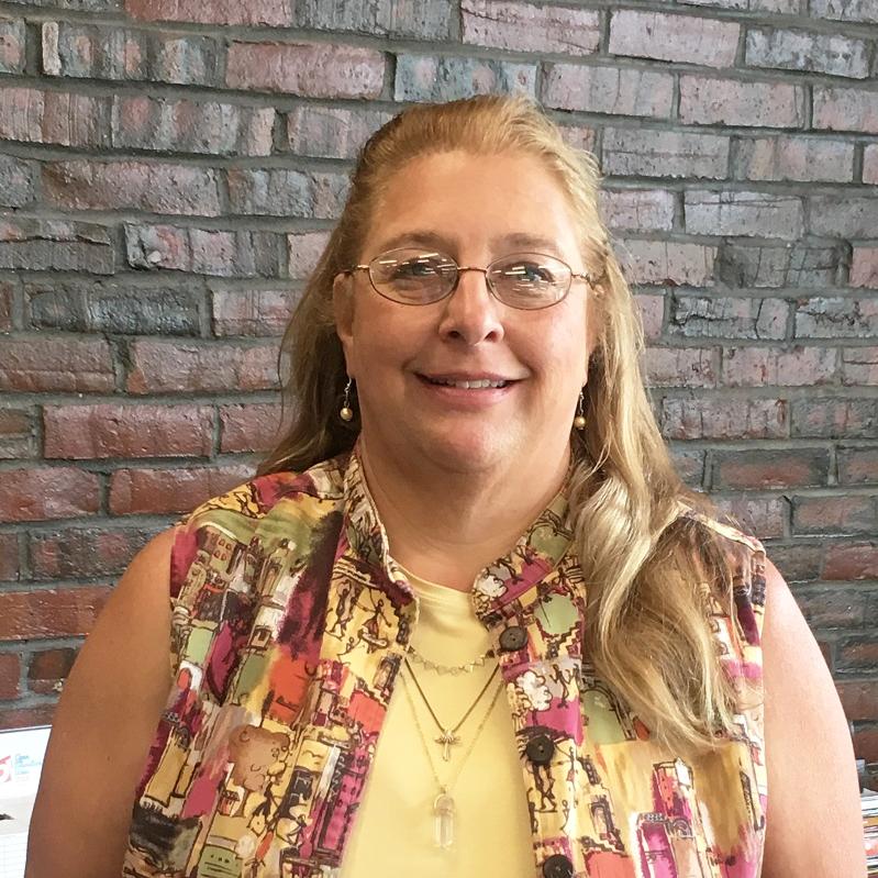Diane Hamel in the Learning Commons