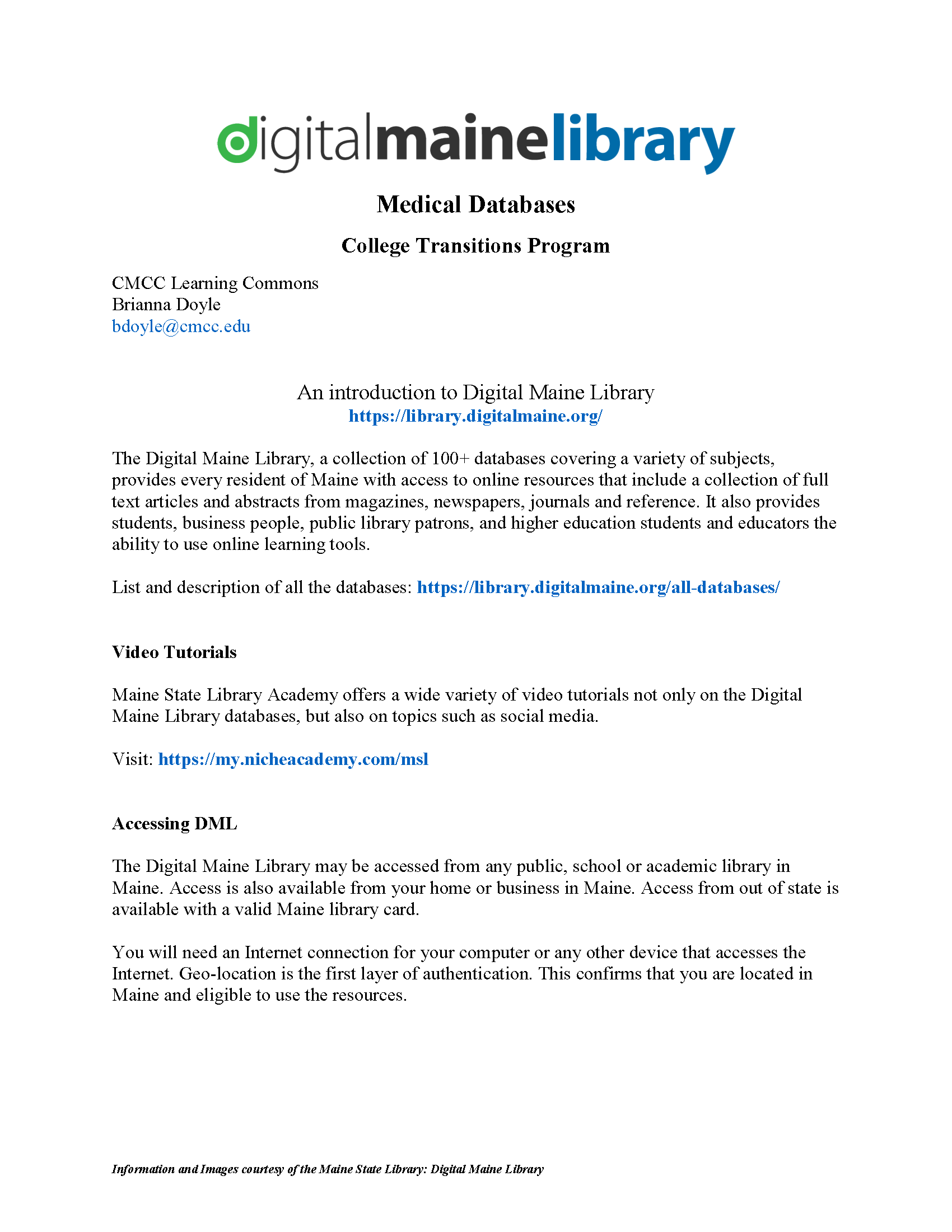 Introduction to Digital Maine Library