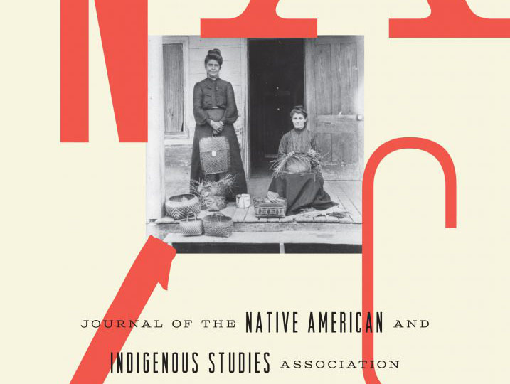 Cover of the Journal of the Native American and Indigenous Studies Association from spring 2014, featuring a small black and white photograph of two women and the NAIS logo.