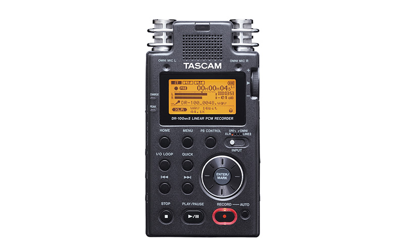 Image of Tascam DR-100MKII audio recorder available for checkout.