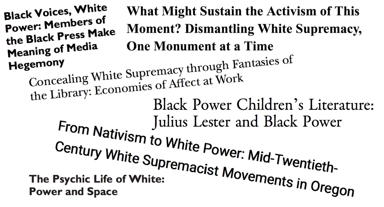 White Power, Black Power