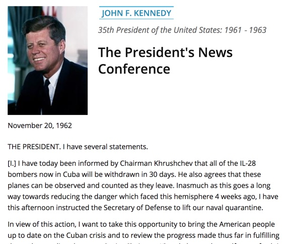 JFK Press Conference