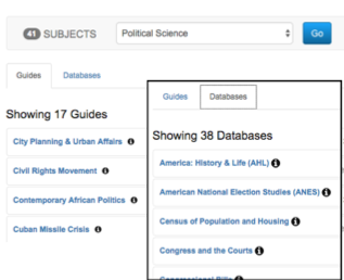Political Science subject page screenshots