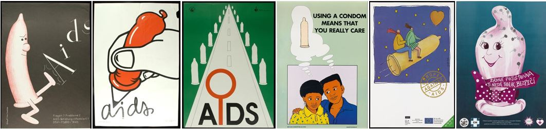 Sample AIDS condom posters