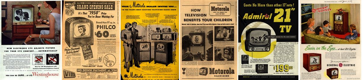 decorative image: vintage tv advertisements from Ad *Access