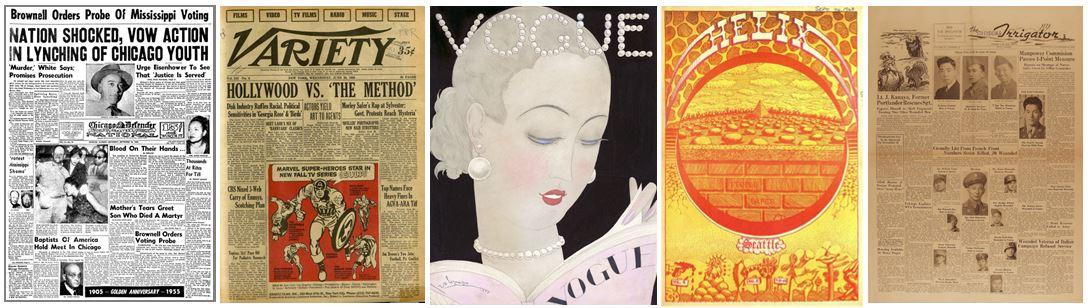 sample newspaper & magazines