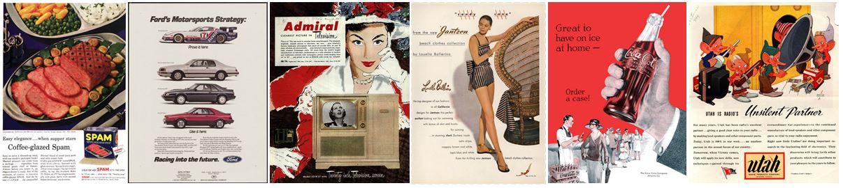 decorative image of vintage advertisements