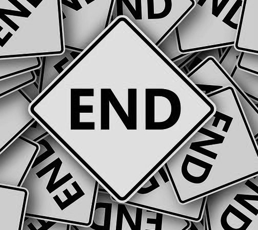 Image: end signs