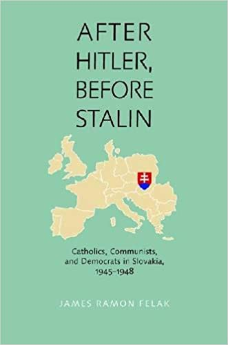 book cover: After Hitler, Before Stalin: Catholics, Communists, and Democrats in Slovakia, 1945–1948