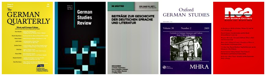 Germanics studies journal covers
