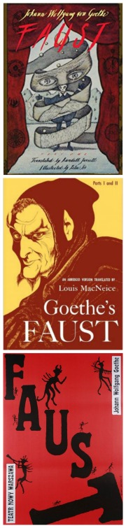 Book covers of Goethe's Faust